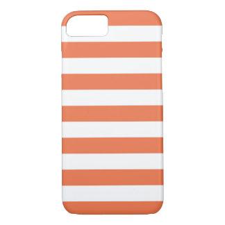 iPhone 7 Fall - korallenrote mutige Streifen iPhone 8/7 Hülle