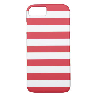 iPhone 7 Fall - Mohnblumen-rote mutige Streifen iPhone 8/7 Hülle