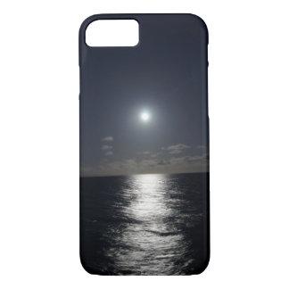 iPhone 7 Fall-Mond u. Ozean-Strand nachts iPhone 8/7 Hülle