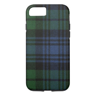 iPhone 7 Fall schwarze Uhralter Tartan-Kasten iPhone 7 Hülle