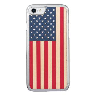 iPhone 7 Flagge-Ahorn-hölzerner dünner Fall Carved iPhone 8/7 Hülle
