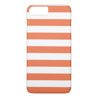 iPhone 7 Plusfall - korallenrote mutige Streifen iPhone 8 Plus/7 Plus Hülle