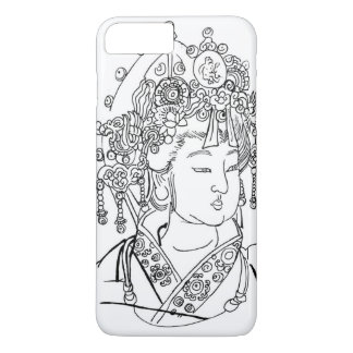 iPhone 7 Plusfall mit traditioneller Chinese-Kunst iPhone 8 Plus/7 Plus Hülle