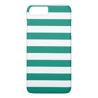 iPhone 7 Plusfall - Smaragdgrün-mutige Streifen iPhone 8 Plus/7 Plus Hülle