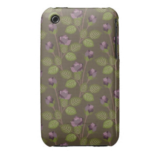 iPhone assez pourpre 3G-3GS de caisse de fleurs d'