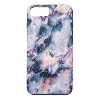 iPhone blanc rose bleu 7 de texture de marbre Coque iPhone 7 Plus