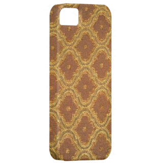 iPhone d'or vintage 5 de Coque-Compagnon de damass Coque Barely There iPhone 5