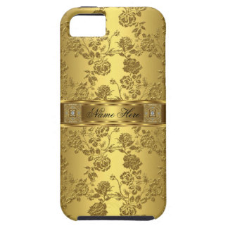 iPhone eleganter nobler Imitat Golddamast mit iPhone 5 Hüllen