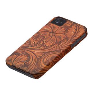 iphone en cuir usiné floral de style coques iPhone 4 Case-Mate