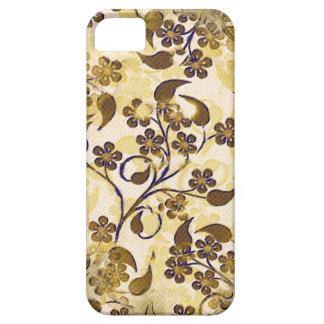 iPhone floral 5 de Coque-Compagnon d'or vintage de Étui iPhone 5