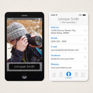 iPhone IOS-Art - persönliches Foto-Profil Visitenkarten