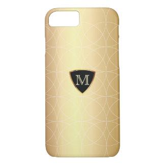 iPhone moderne de motif de Geo d'or de monogramme Coque iPhone 7