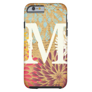 iPhone moderne vintage 5 de monogramme de fleur Coque Tough iPhone 6