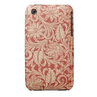 iPhone rouge floral 3G/3GS de Coque-Compagnon de d Étui iPhone 3