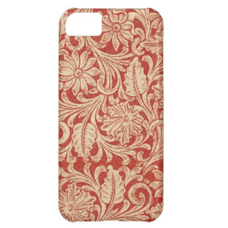 iPhone rouge floral 5 de Coque-Compagnon de damass Coque iPhone 5C