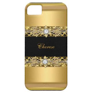 iPhone schwarzes BlumenImitat-Gold Schutzhülle Fürs iPhone 5