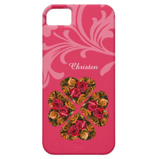 iPhone SE/5/5S Fall - rosa Valentine-Rosen iPhone 5 Etui