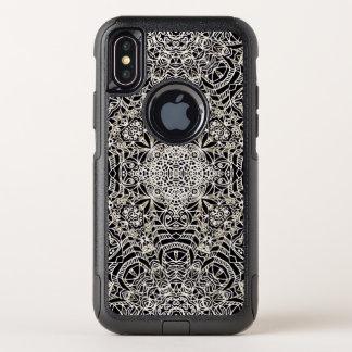 iPhone X Pendler-Fall Mehndi ethnische Art G419 OtterBox Commuter iPhone X Hülle