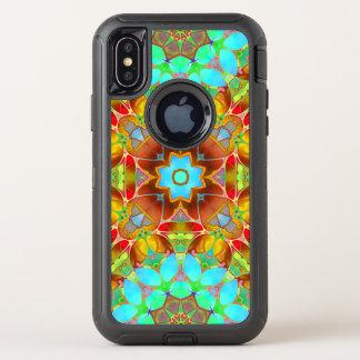 iPhone X Verteidiger-Fall-BlumenFraktal-Kunst G410 OtterBox Defender iPhone X Hülle