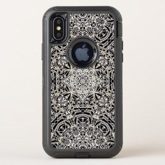 iPhone X Verteidiger-Fall Mehndi ethnische Art OtterBox Defender iPhone X Hülle