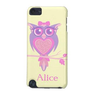 IPOD-Kasten der niedlichen Eule der Mädchen lila iPod Touch 5G Hülle