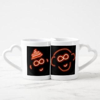 Irahs und Luap Affe-Liebe-Tassen-Set Liebestassen