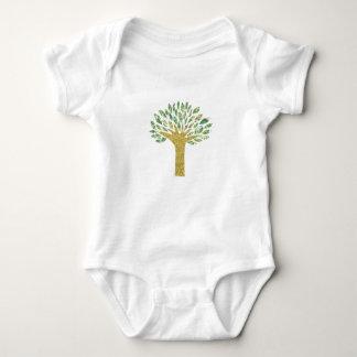 Irdisches Baum-Shirt Baby Strampler
