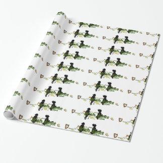 Iren-Tanz Wordle Packpapier Einpackpapier