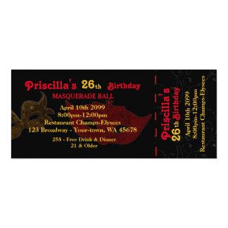 irgendein Alter, 26., Einladungs-Karte styl, 10,2 X 23,5 Cm Einladungskarte