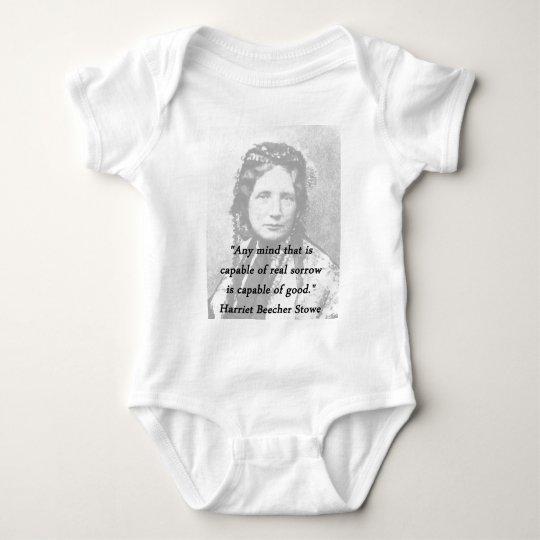 Irgendein Verstand - Harriet Beecher Stowe Baby Strampler