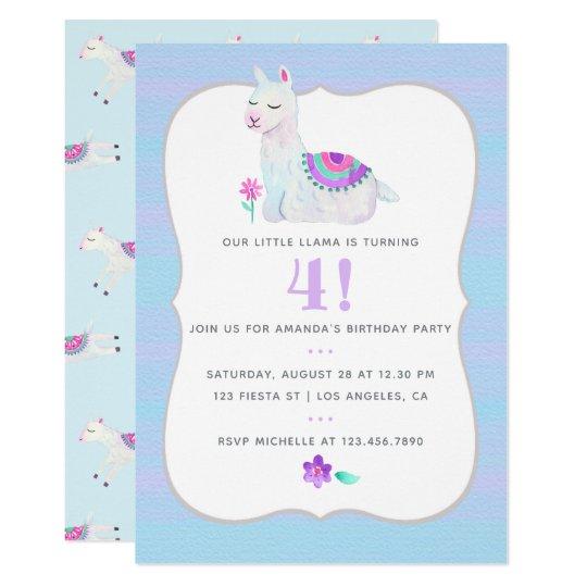 Irgendeine Alters Lama Kindergeburtstag Party Einladung