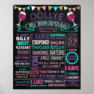 IRGENDEINE Geburtstags-Partytafel ALTER Poster