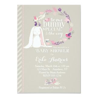 Irgendeine Häschen-spezielle Babyparty-Einladung Karte