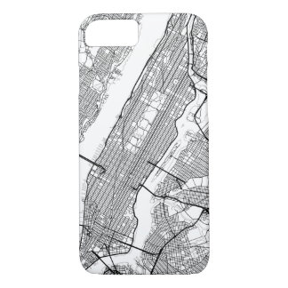 Irgendeine Stadt-moderne Karte iPhone 7 Hülle