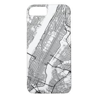 Irgendeine Stadt-moderne Karte iPhone 8/7 Hülle