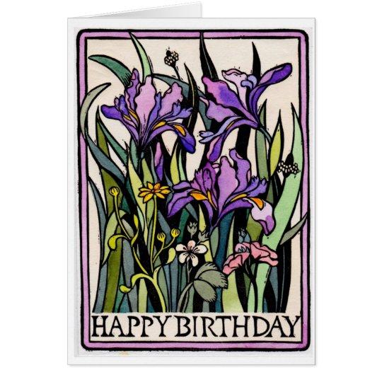 Iris-alles- Gute zum Geburtstagkarte Grußkarte