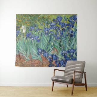 Iris durch Kunst Vincent van Goghs GalleryHD mit Wandteppich