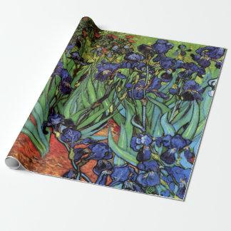 Iris durch Vincent van Gogh, Vintage Garten-Kunst Geschenkpapier