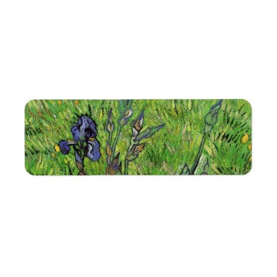Iris durch Vincent van Gogh, Vintager Garten-feine Rücksende Aufkleber