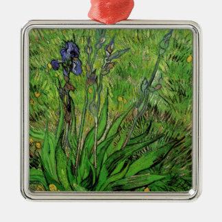Iris durch Vincent van Gogh, Vintager Garten-feine Silbernes Ornament