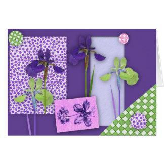 Iris-Einklebebuch-Geburtstags-Karte (Großdruck) Grußkarte