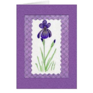 Iris-Geburtstags-Karte (Großdruck) Grußkarte