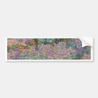 Iris in Monets Garten Autoaufkleber