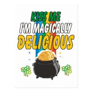 Irisch - küssen Sie mich, den ich magisch Postkarte