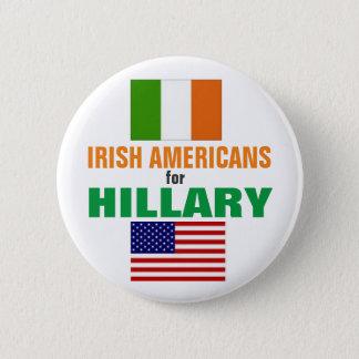 Irische Amerikaner für Hillary 2016 Runder Button 5,7 Cm