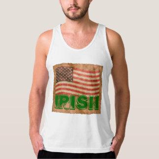 Irische amerikanische antike Blick-Flagge Tank Top