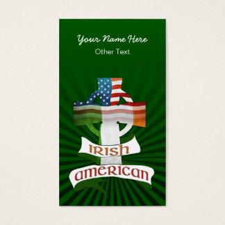 Irische amerikanische quere kundenspezifische visitenkarte