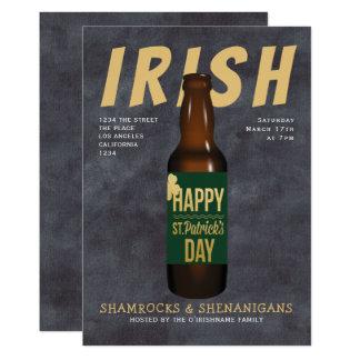 Irische Bier-PartyShenanigans St. Patricks Tages Karte