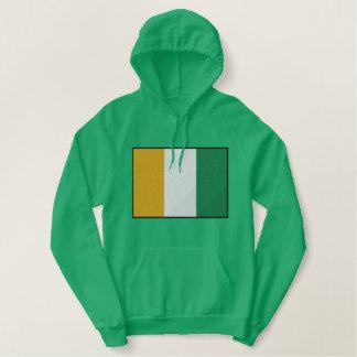 Irische Flagge Bestickter Hoodie