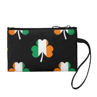 Irische Flagge-Grüne/weiße/orangefarbene Münzbörse